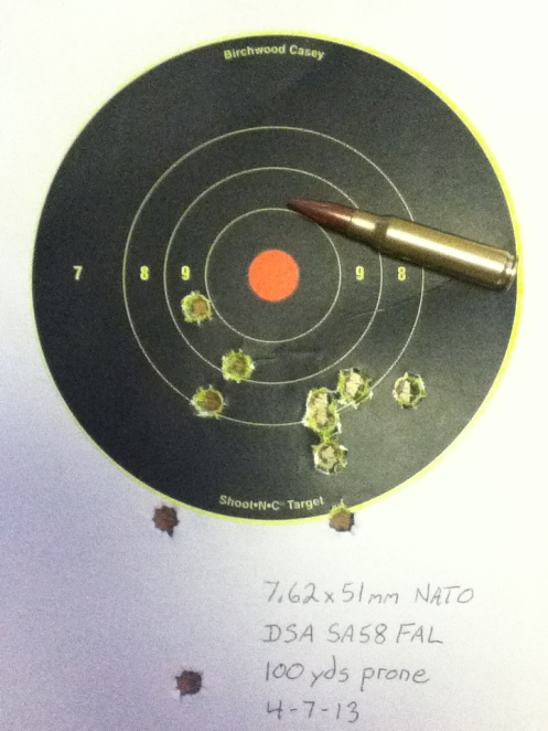 Went shooting today. Had fun with my FAL. Iron sights.