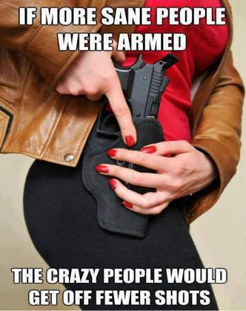 If more good guys were armed ...