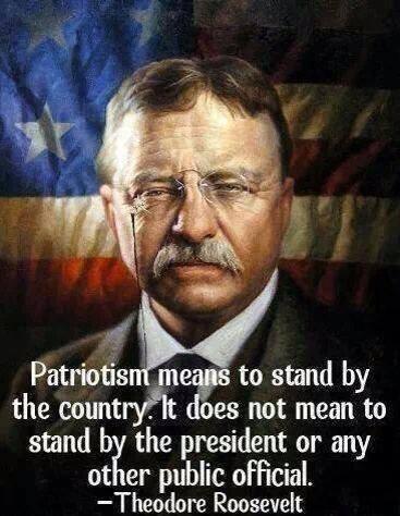 Patriotism means ...